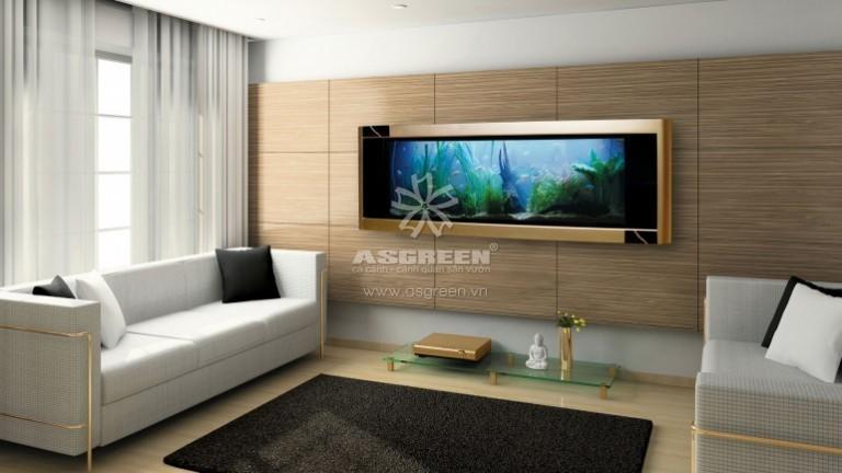 Bể cá treo tường, sản phẩm nội thất phong thủy và hiện đại