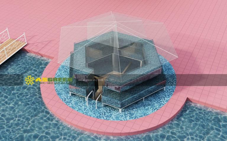 Thiết kế dàn bể hải sản – Landmark Hotel, Bắc Ninh