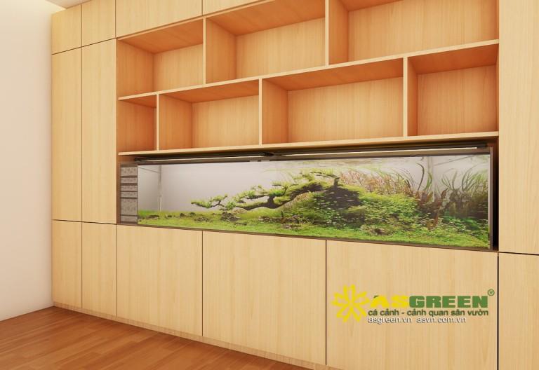 Thiết kế thi công bể cá thủy sinh, Khách sạn Crown, TP. Hà Nội