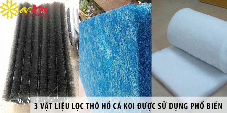 3 vật liệu lọc thô hồ cá koi được sử dụng phổ biến