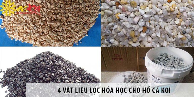 4 vật liệu lọc hóa học cho hồ cá koi có công dụng tốt nhất