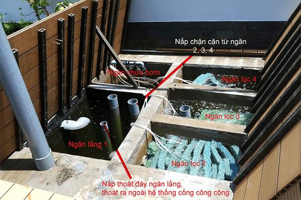 Hệ thống lọc của hồ cá koi